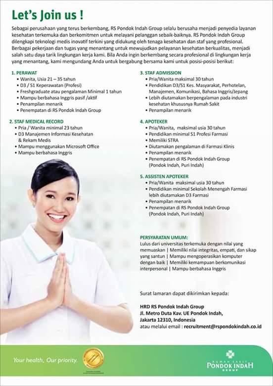 Lowongan Kerja Rs Pondok Indah Stikes Panca Bhakti Bandar Lampung